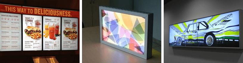 Световые короба со сменным изображением