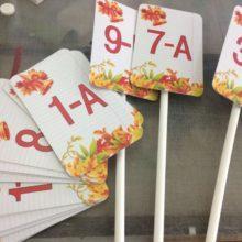 Изготовление табличек на 1 сентября для линейки школьников.