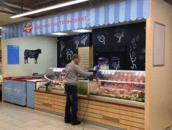 Оформление места продаж Мясницкий ряд от компании Импульс.