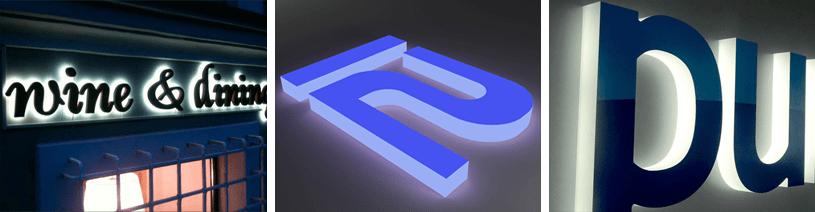 Буквы из акрила со световым бортом
