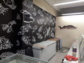 Оформление магазина рыбный ряд